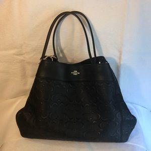 COACH Signature Leather Lexy Shoulder Bag